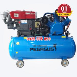Máy nén khí đầu nổ chạy bằng dầu Diesel Pegasus TM-V-1.05/12.5-500L